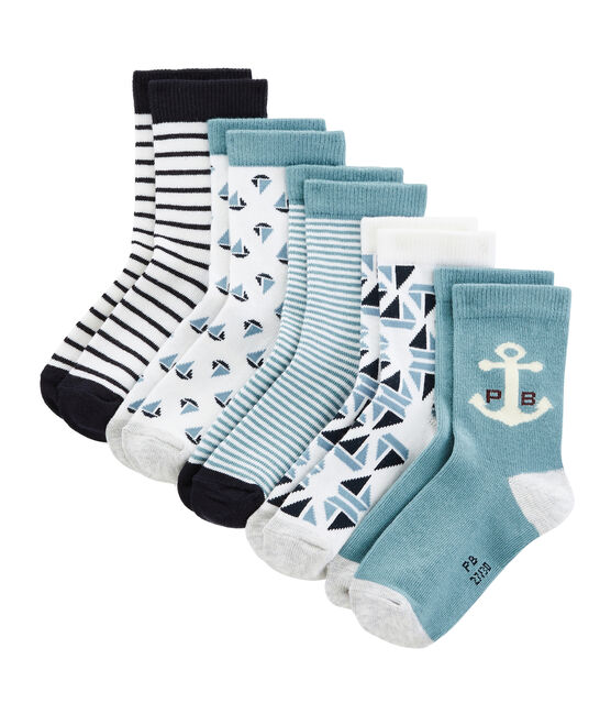 Pack of 5 Weekday Pairs of Boys' Socks . set