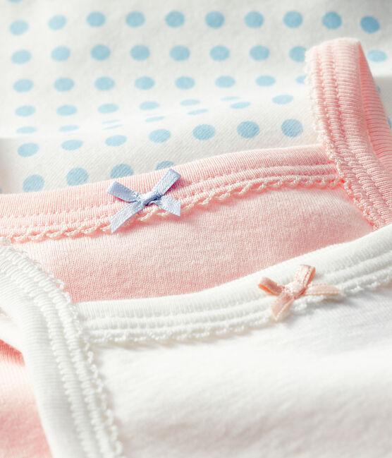 Baby Girls' Bodysuits with Straps - 3-Piece Set . set