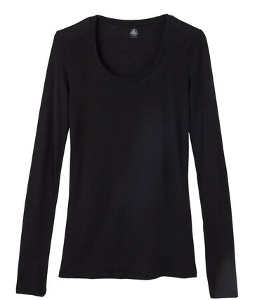 Women's Light Ribbed T-Shirt Noir black