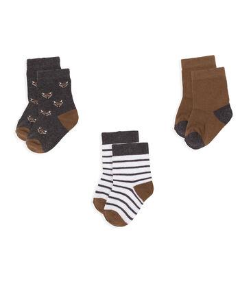 Baby Boys' Socks - 3-Piece Set City Chine grey