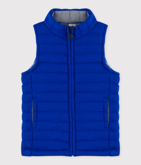 Children's Unisex Quilted Tube Knit Jacket Surf blue