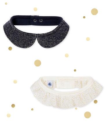 Set of 2 baby girl's collars