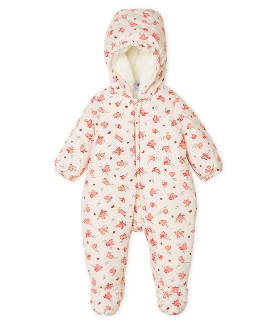Baby Girls' Print Microfibre Snowsuit Fleur pink / Multico white