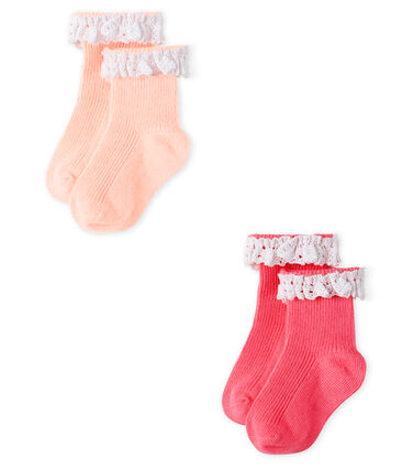 Baby Girls' Lace Socks - 2-Piece Set