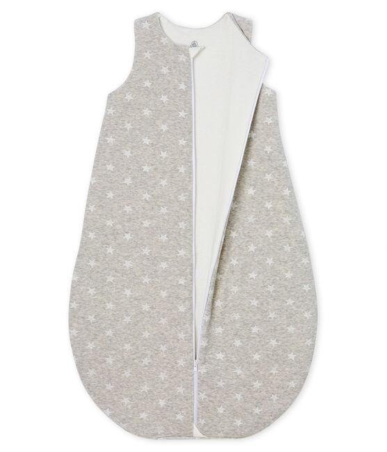 Baby Boys' Velour Sleeping Bag Beluga grey / Marshmallow white