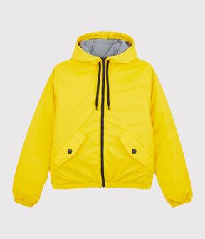 Women's/Men's recycled padded rain jacket Jaune yellow