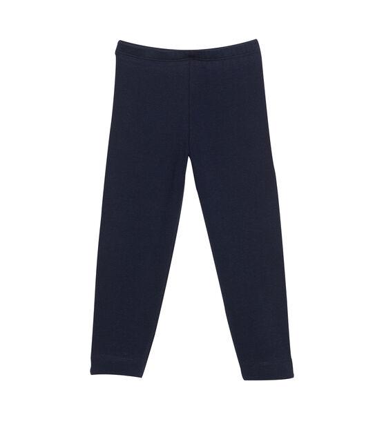 Girl's plain leggings Smoking blue