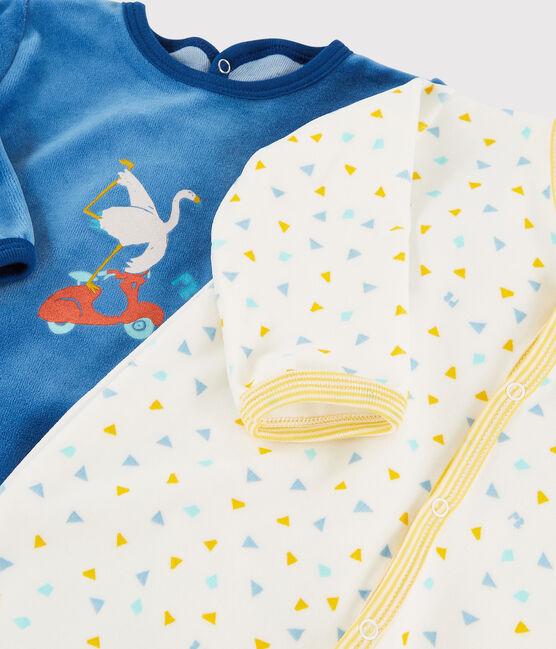 Velour infant sleep suit duo . set