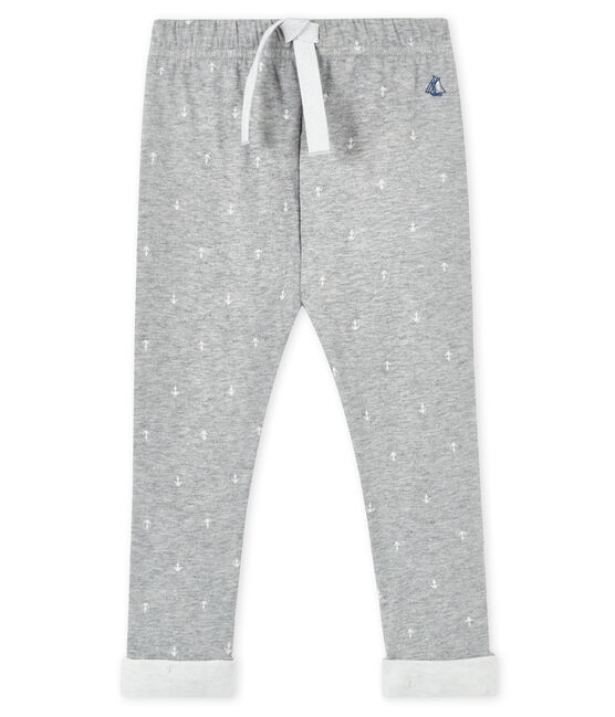 Baby boy's trousers Subway grey / Marshmallow white