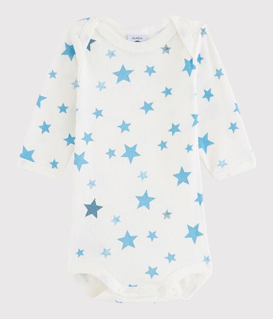 Baby Boys' Long-Sleeved Bodysuit Lait white / Multico white