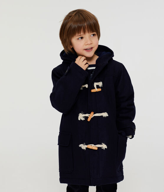 Boys' Duffel Coat Smoking blue