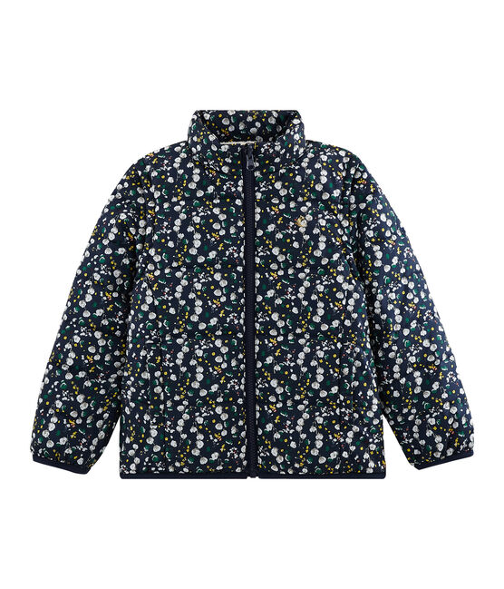 Girls' 3-in-1 Down Coat Smoking blue / Multico white