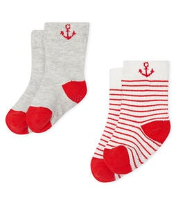 Set of 2 pairs of socks for baby boys . set