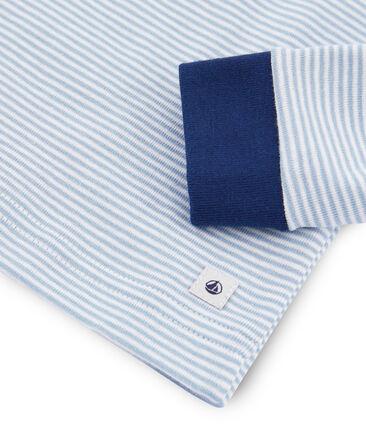 Boys' Snugfit Ribbed Pyjamas Acier blue / Marshmallow white