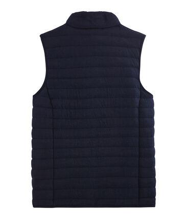 Women's Sleeveless Tube Knit Down Jacket Smoking blue