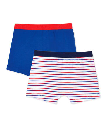 Pack of 2 teenage boy's boxers in stretch jersey
