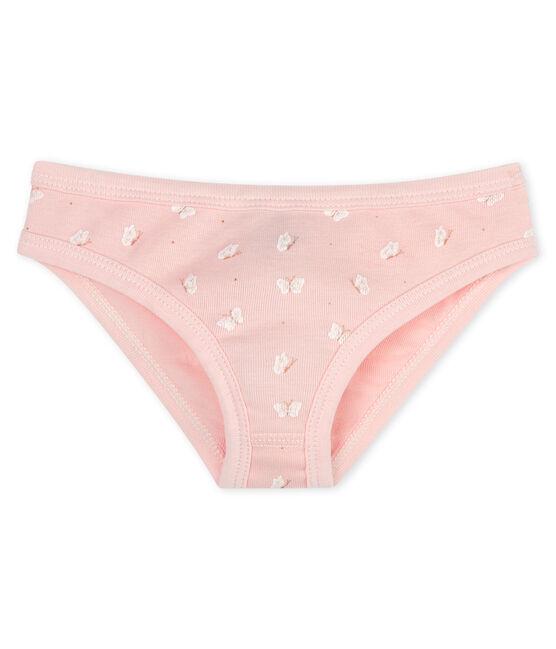 Girls' pants Minois pink / Marshmallow white