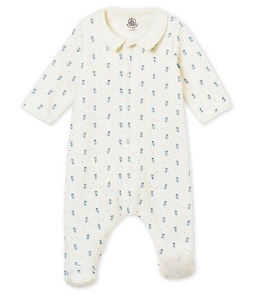 Baby boy's Bodyjama in print cotton velour
