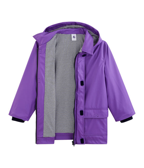 Unisex Children's Waxed Coat Real purple