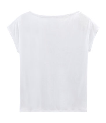 Women's Short-Sleeved Cotton Sea Island T-Shirt Ecume white