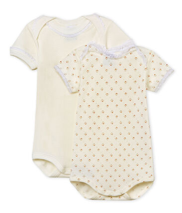 Baby Girls' Short-Sleeved Bodysuit - Set of 2
