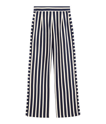 Women's trousers Haddock blue / Marshmallow white