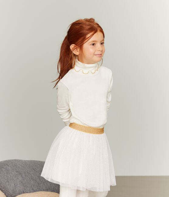 Girls' Undershirt Marshmallow white / Or yellow