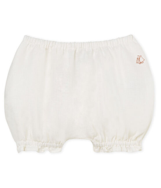 Baby girls' linen bloomers Marshmallow Cn white