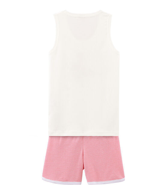 Girls' short Pyjamas Cupcake pink / Marshmallow white