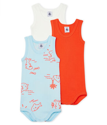 Baby Boys' Sleeveless Bodysuit - 3-Piece Set . set