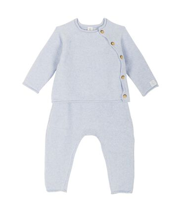 Babies' Clothing in Cotton/Merino Wool/Polyester - 2-Piece Set