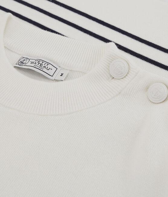 Men's Navy Pullover Marshmallow white / Smoking blue