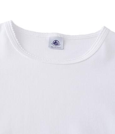 Women's short-sleeved plain t-shirt Ecume white