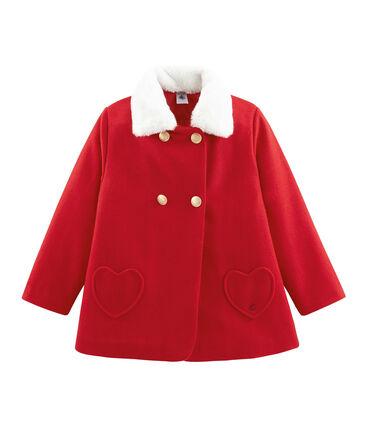 Girls' Coat Froufrou red