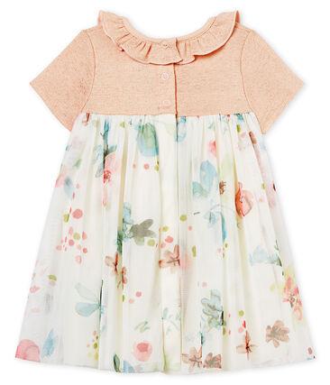 Baby girls' dual-material dress