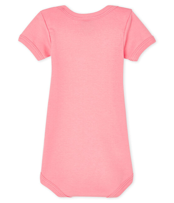 Baby girls' short-sleeved bodysuit Gretel pink