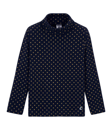 Child's polo neck dotted T-shirt