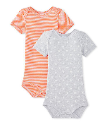 Set of 2 baby boys' short-sleeved bodysuits