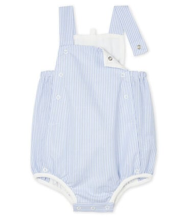 Baby Boys' Striped Poplin Playsuit Marshmallow white / Multico white