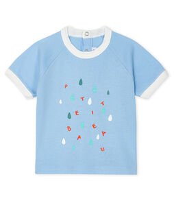 Short-sleeved T-shirt for baby boys Jasmin blue