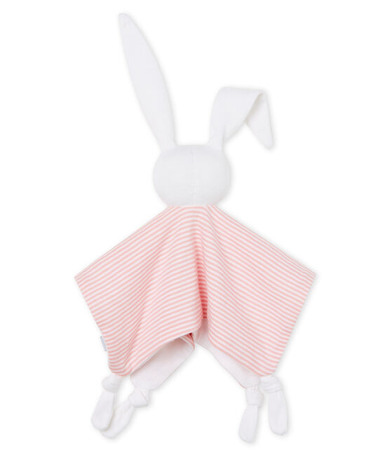 Babies' Ribbed Bunny Comforter Charme pink / Marshmallow white