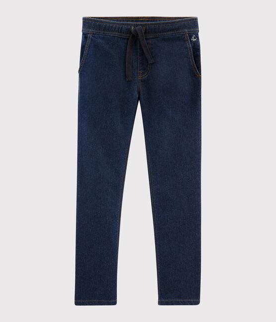Boys' Denim Trousers Medieval blue / Ecru Cn beige