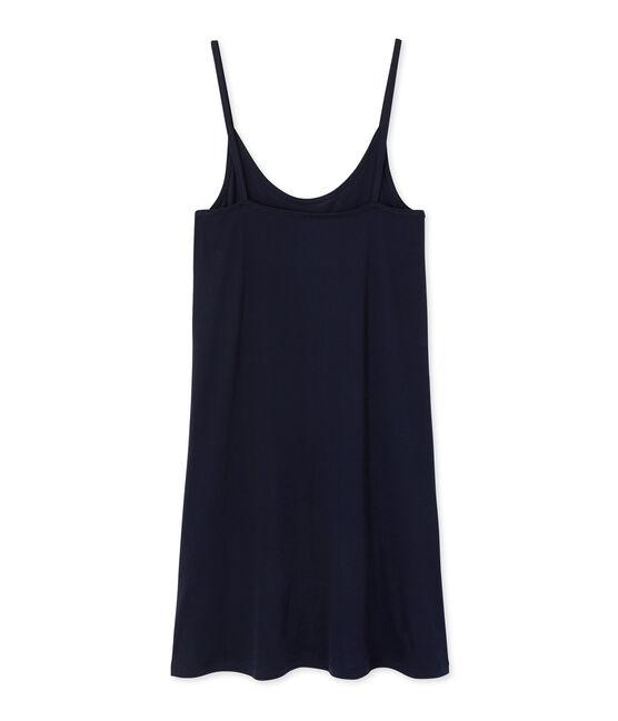 Chemise à bretelles femme en coton léger Smoking blue