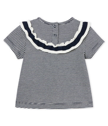Baby girls' pinstriped blouse