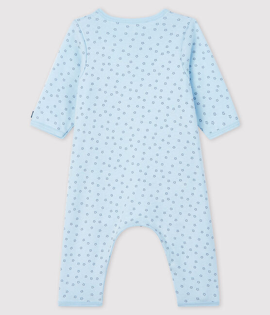 Baby Boys' Blue Starry Footless Ribbed Bodyjama Fraicheur blue / Concrete grey