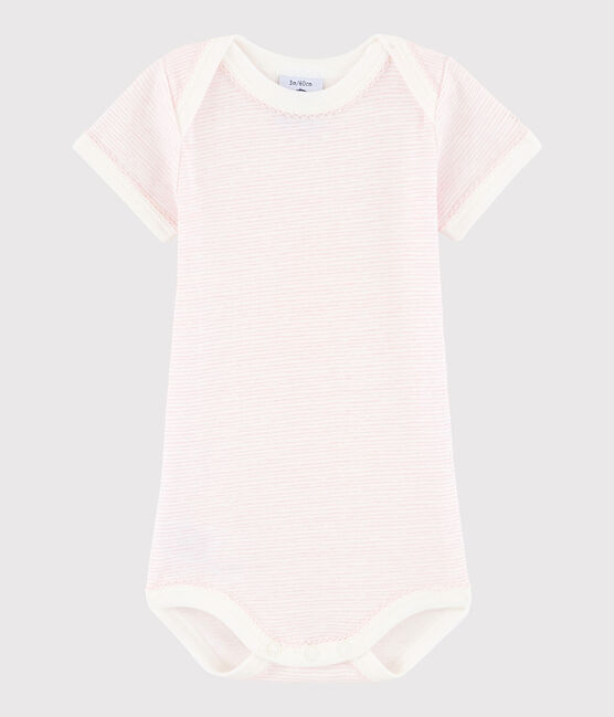 Baby Girls' Short-Sleeved Bodysuit LAIT/BABYLONE