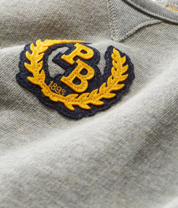Baby Boys' Long Fleece Jumpsuit Subway grey / Boudor yellow