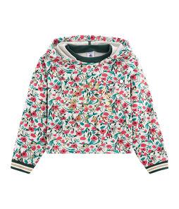 Girls' Sweatshirt Beluga grey / Multico white