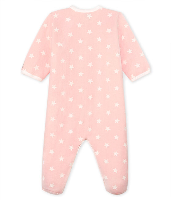 Baby Girls' Fleece Onesie Minois pink / Marshmallow white