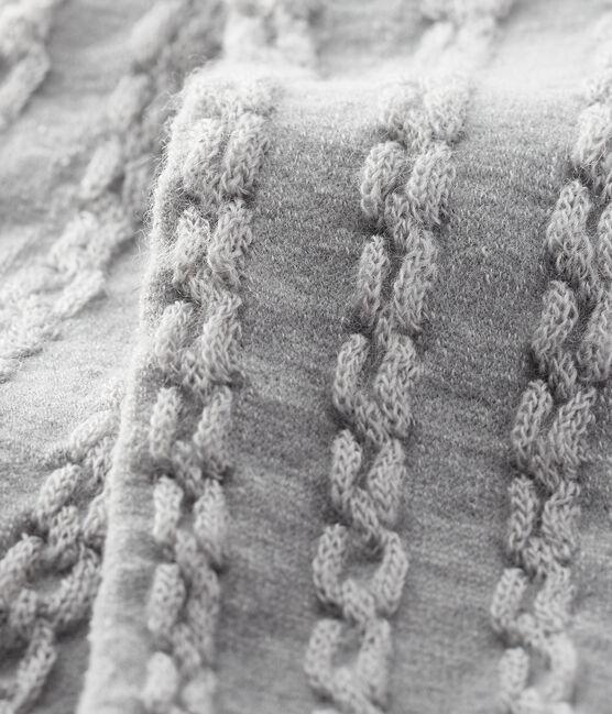 Baby girl's woollen tights Beluga grey